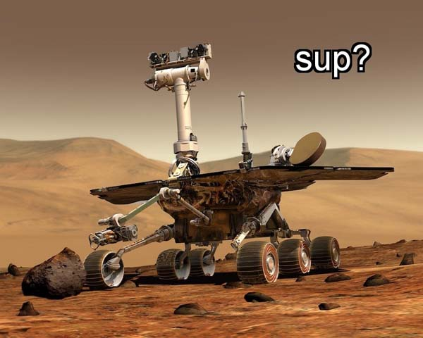 12.) Mars's population consists entirely of robots. Watch your back.