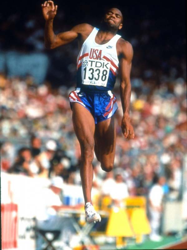 17.) Mike Powell set the long jump record at 29 feet. He launched himself 30 feet forward to do so.
