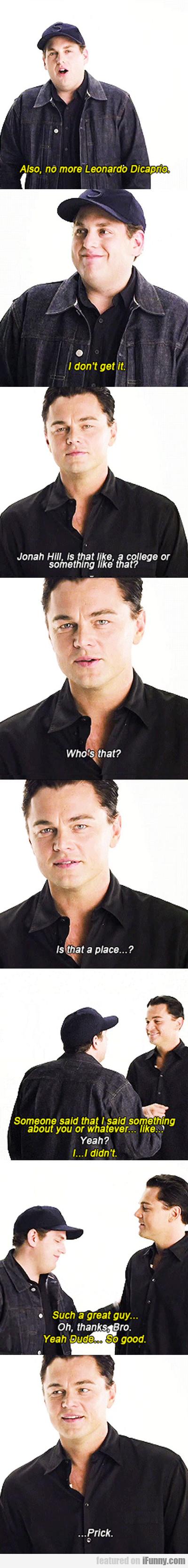 Also, No More Leonardo Dicaprio...
