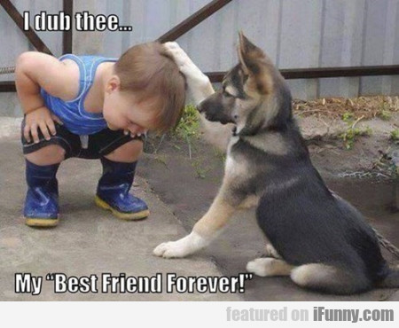 "I Dub Thee.. My ""best Friend Forever!"""