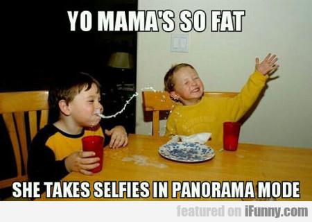 Yo Mama's So Fat, She Takes Selfies In Panorama...
