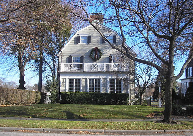 The infamous Amityville Horror House house that was the basis of 11 scary movies in which families are terrorized by paranormal entities is once again for sale!  You can buy the house in which Ronald DeFeo, Jr. shot and killed six members of his family for just a measly $950,000. Keep the happy tradition going!