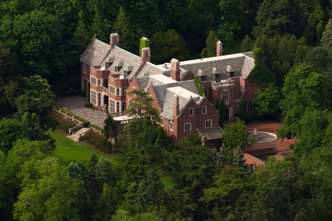 """The Schweppe Estate is priced at a paltry $12,000,000 but its real selling point is that Charles Scweppe killed himself here and there is a mysterious """"ghost window"""" that for unknown reasons remains clean. The ghosts probably keep it that way so they can see your shining faces on open house day!"""
