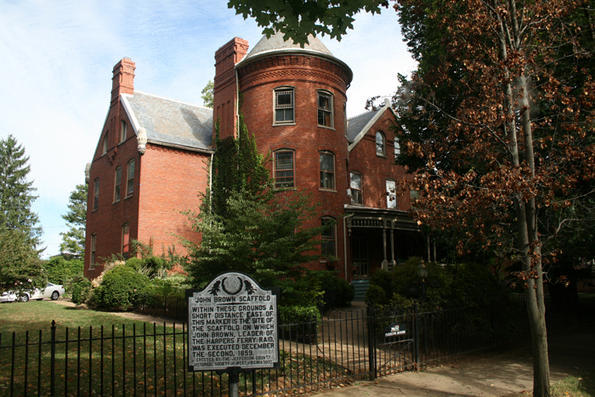 John Brown was a famous abolitionist and was hung in Charles Town, WV in 1859. One of his captors bought the land around where Brown was hung and was kind enough on it to build a mansion there. Needless to say, its super-duper-racist-haunted, guys. It can be yours for just for $1,200,00.