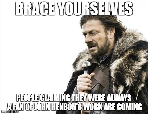 John Henson died so, be ready.