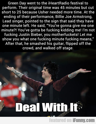 Green Day Went To The Iheartradio Festival...