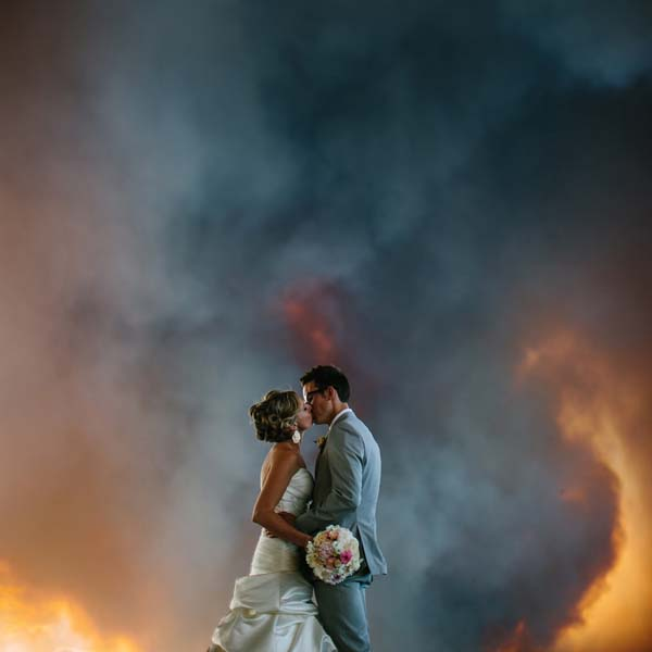 This couple's romance will be on fire for a long, long time.