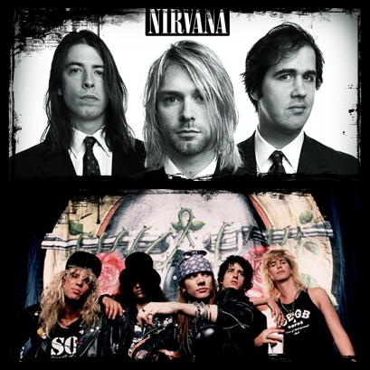 3.) Guns n' Roses vs. Nirvana