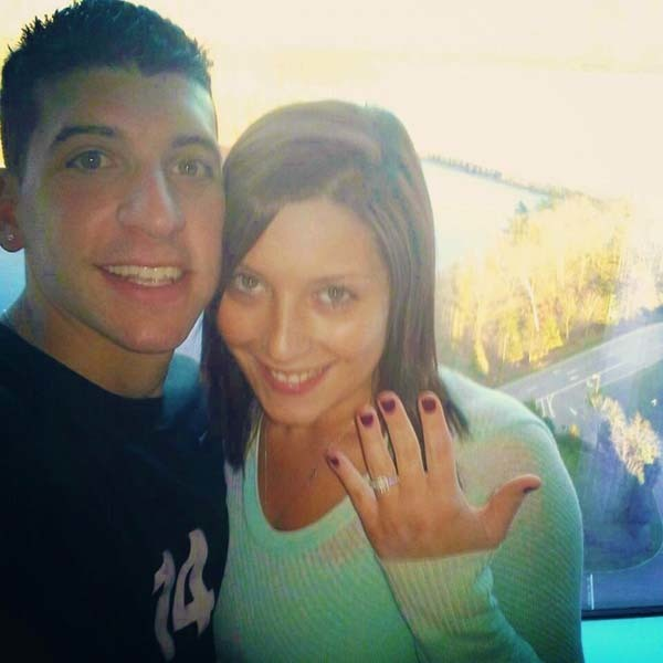 Aly and Anthony were happily engaged.