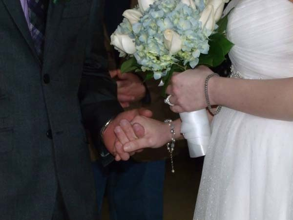 """A group of them bought Aly a bracelet (""""something new"""") as a present to wear during the ceremony."""