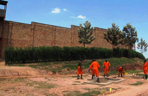 "17.) Gitarama Central Prison, Rwanda: This is described as ""hell on earth."" Four men are packed together per square yard. Dysentery, gangrene, rotting corpses and cannibalism can be found at this prison."