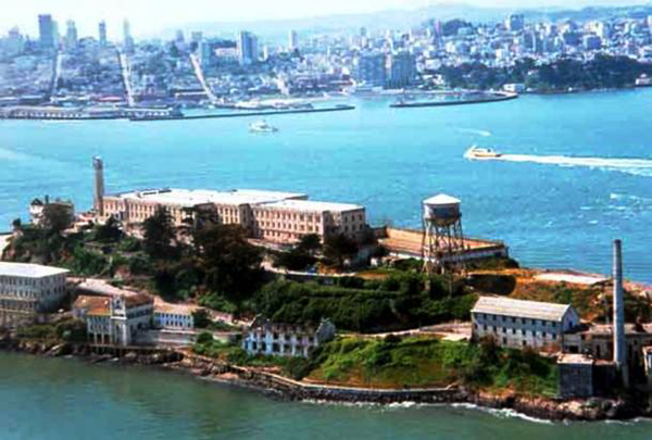 "16.) Alcatraz, San Francisco, California: Most know ""The Rock,"" the famous prison built in the 1920s. The inmates here lost touch with the outside world and were subject to abuse from the guards."