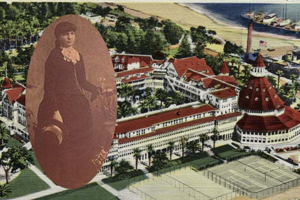 3.) Kate Morgan: This young woman supposedly haunts the beachside Hotel del Coronado in California. In 1892, she was found dead with a bullet in her head and a gun in her hand, but the bullet did not match the gun. Even today, hotel employees report seeing the young woman's ghost.