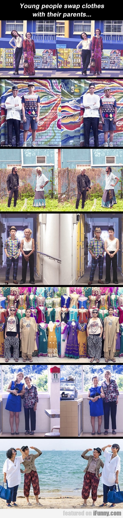 Young People Swap Clothes With Their Parents...