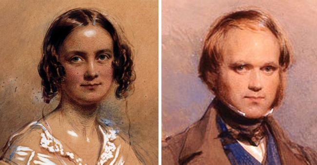 4.) Charles Darwin and Emma Wedgwood