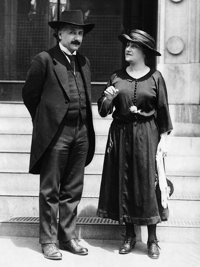 2.) Albert Einstein and Elsa Lowenthal