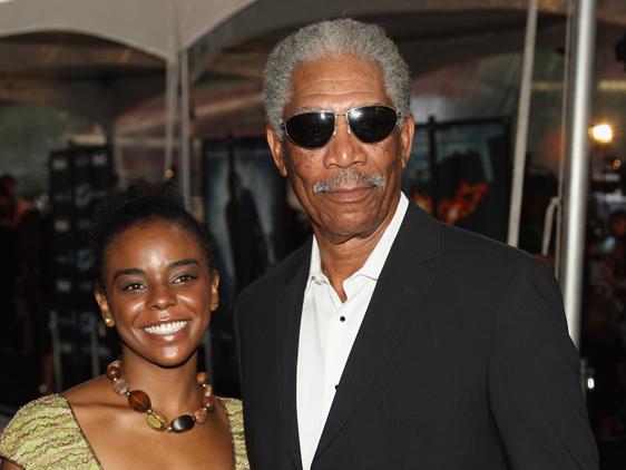 7.) Morgan Freeman and E'Dena Hines
