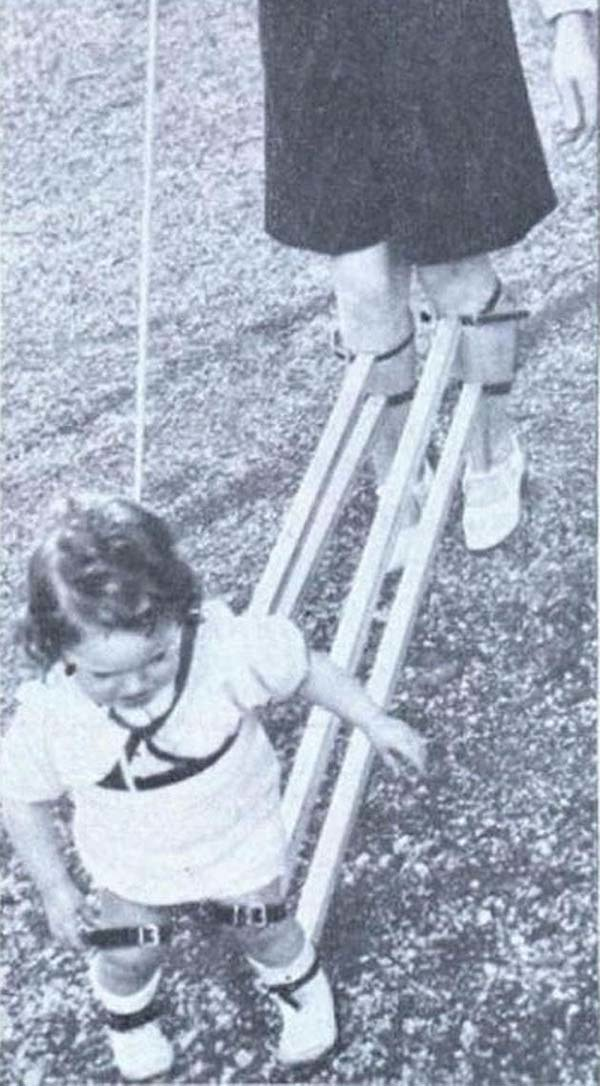A device that would help you teach your children how to walk (1939).