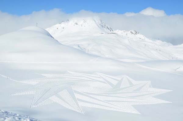 These delicate patterns were created in the beautiful  Savoie Valley in France, overlooking Mont Blanc.