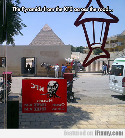 The Pyramids From The Kfc Across The Road...