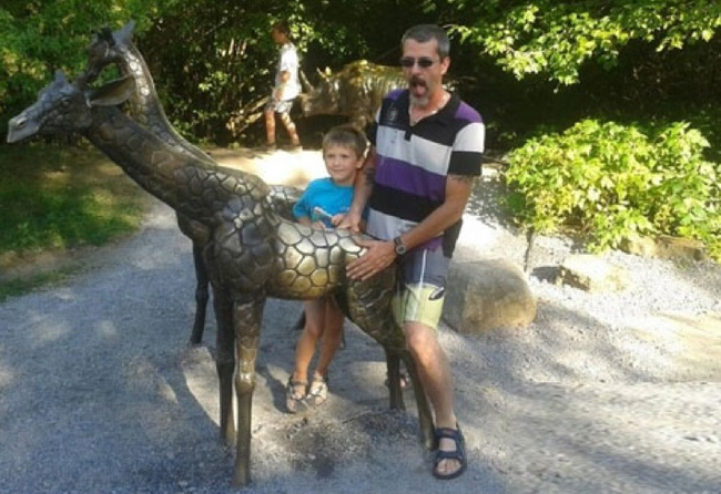 18.) No helmet while riding a giraffe? What kind of example is that to set for your kid?