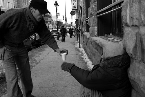 10. When this guy brought a hot cup of coffee to a freezing homeless man