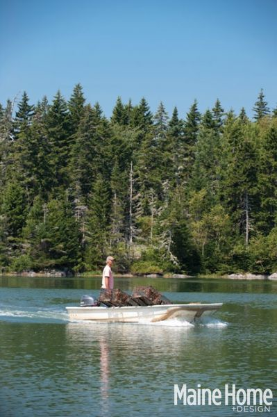 The Brown's each take small boats to work while they're living at the cottage.